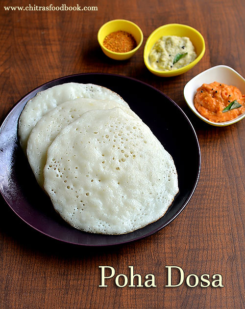 Poha dosa recipe