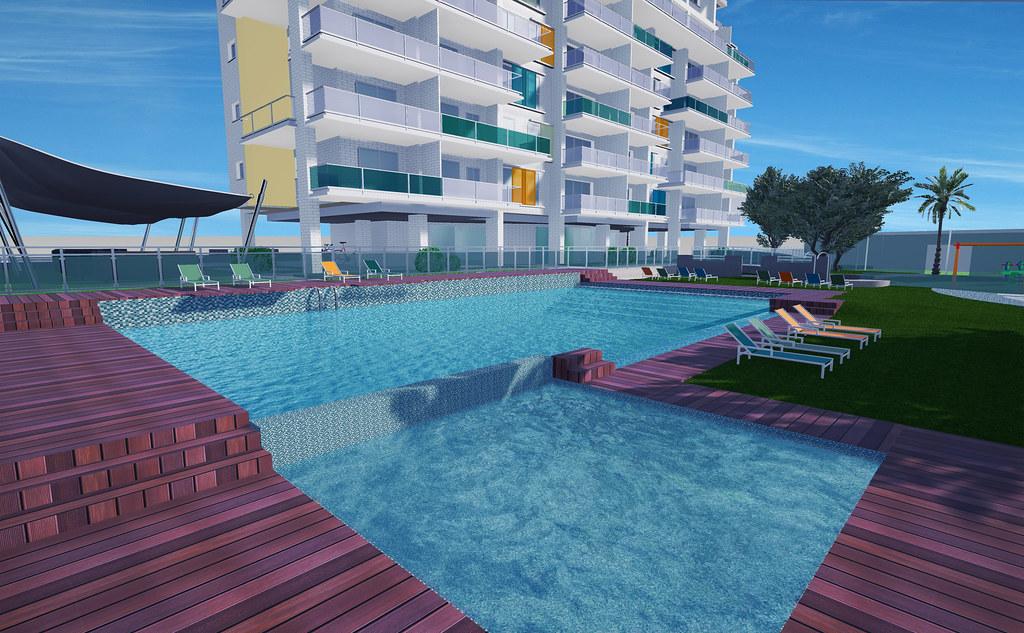 Seacolors pisos en playa de san juan alicante for Piscinas de san juan