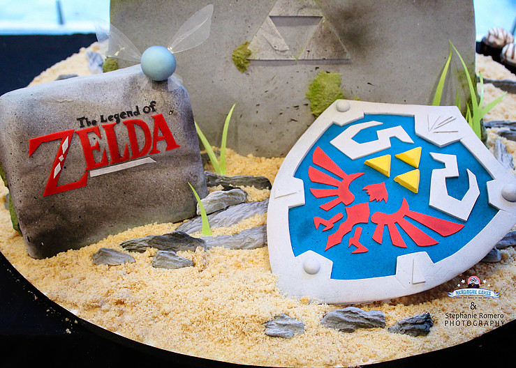 The Legend of Zelda cake by Nerdache Cakes