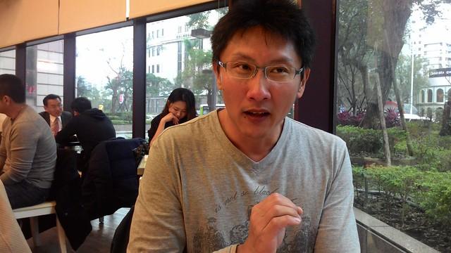 《紅檜、水鹿與獵人》作者蔡日興。攝影:林倩如。