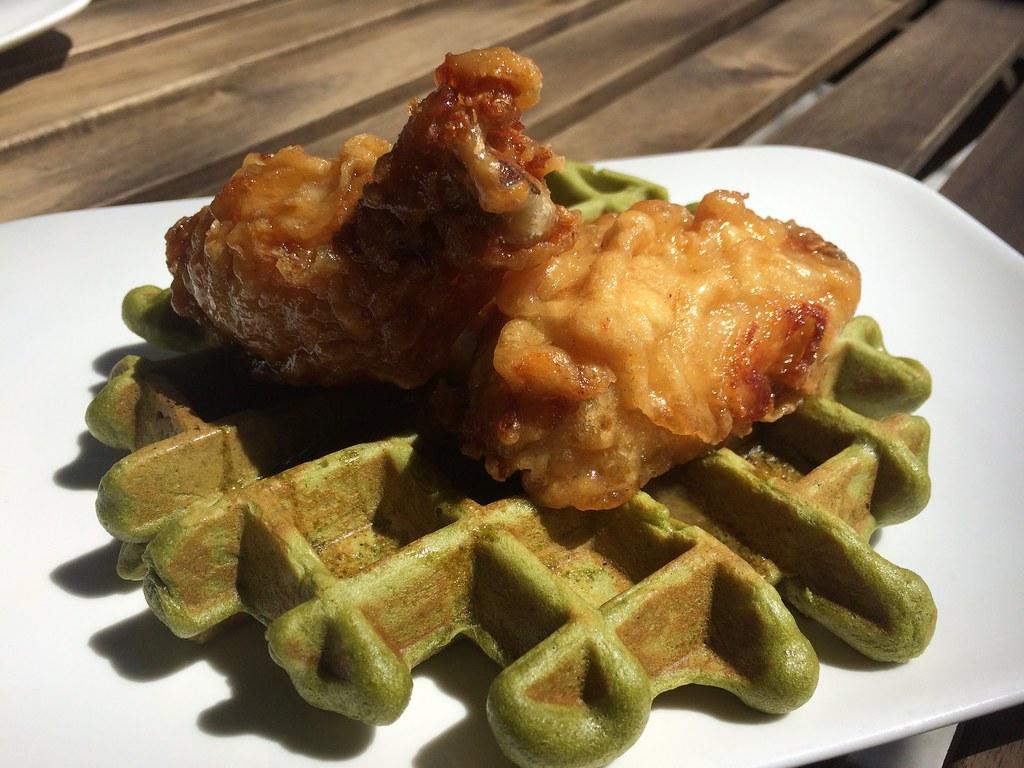 Korean Fried Chicken & Waffles at SouthGate | KFC, green ... - photo#20