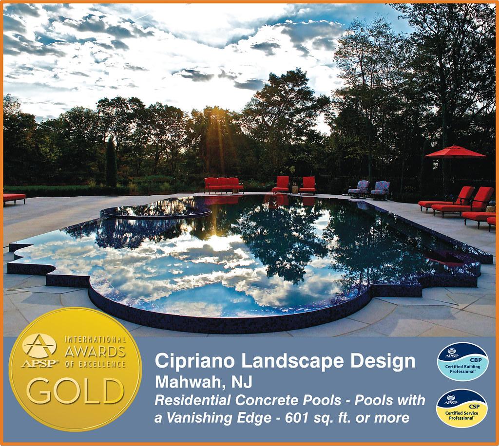 Cipriano landscape design the association of pool spa for Cipriano landscape design