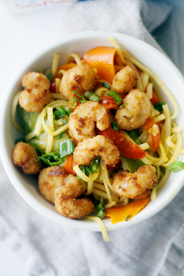 singapore noodles with shrimp @SeaPak #MoreCoastal