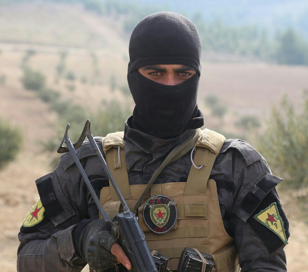 Kurdish Ypg Fighter Anti Terror Forces Yat