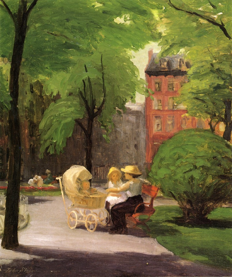 Spring, Grammercy Park by John French Sloan, 1912