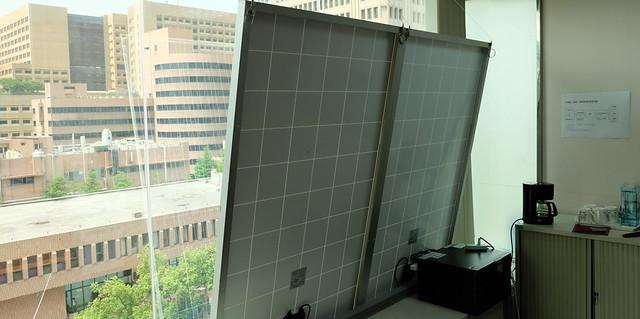 陳曼麗國會辦公室裝設的太陽能板 攝影:陳文姿
