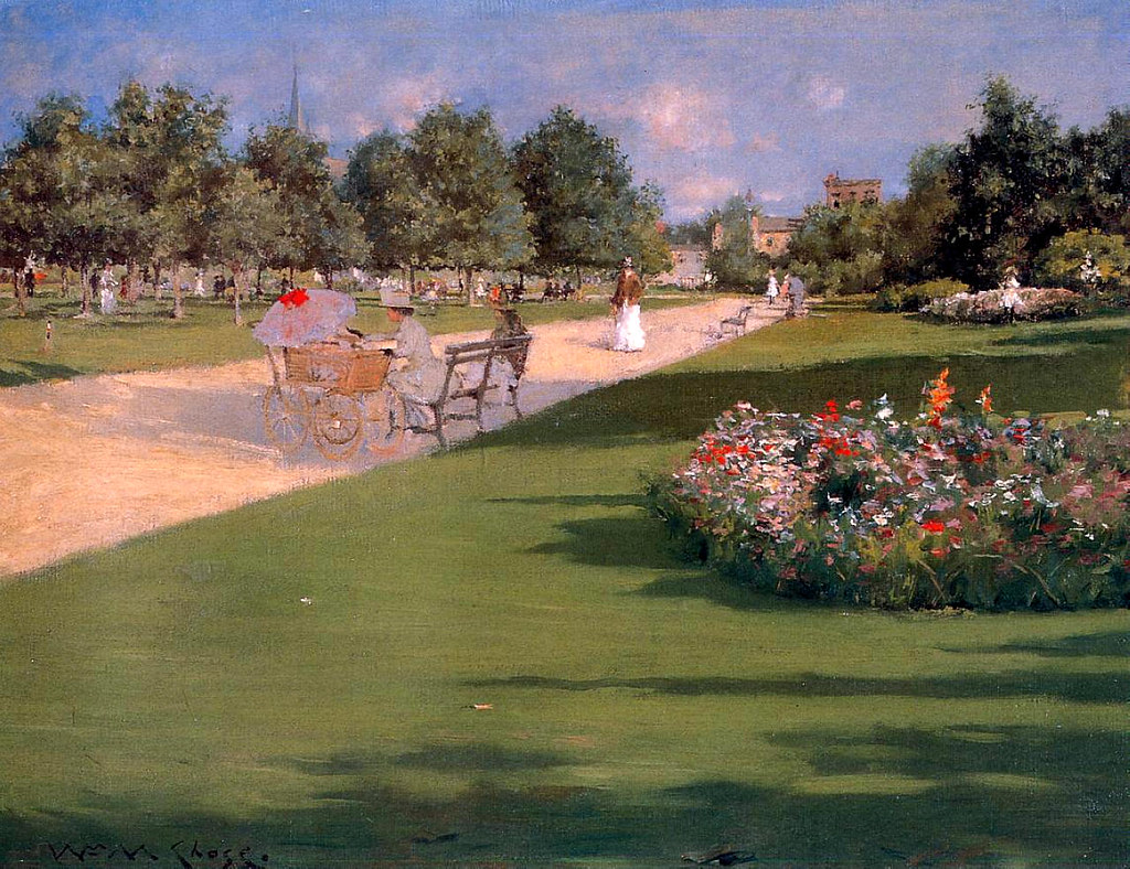 Tompkins Park, Brooklyn by William Merritt Chase, 1887