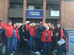 CWAers GOTV and petition for Bernie!