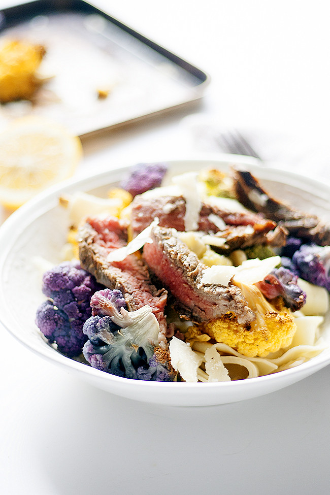 #CAonMyPlate  #CultivateCA tagliatelle with garlic and lemon roasted cauliflower