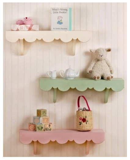 scalloped shelves
