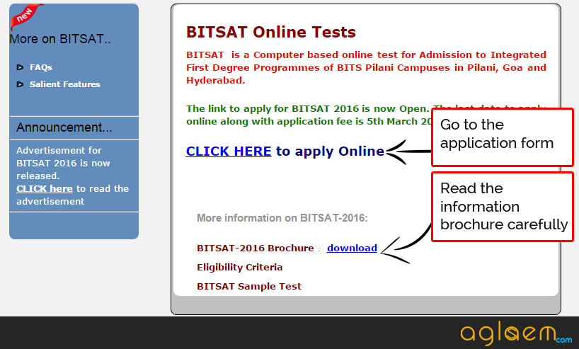How to fill BITSAT 2016 Application Form