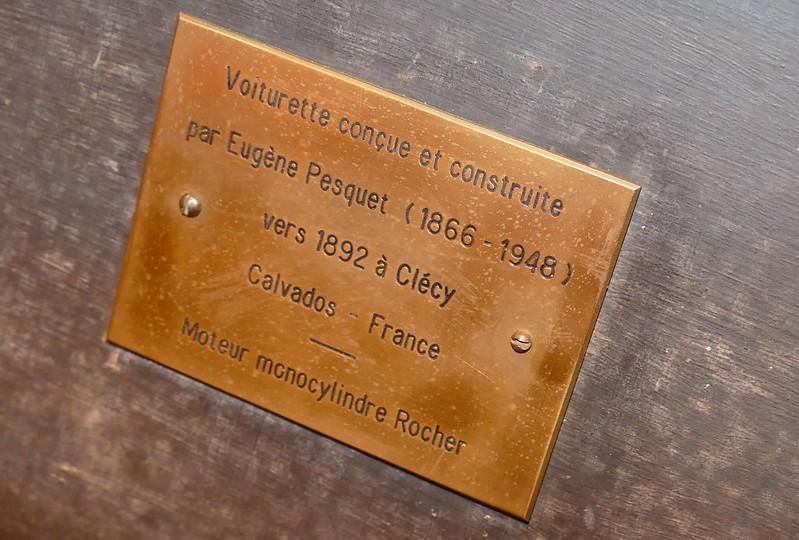 Tricyclecar Eugène PESQUET voiturette 1892 - Retromobile Paris 2016 24266595803_7a67a9b87f_c