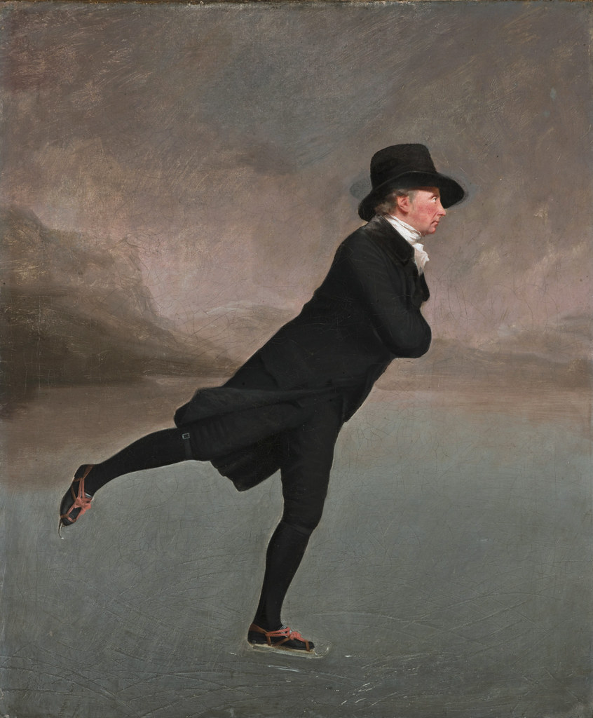 The Reverend Robert Walker Skating on Duddingston Loch, attributed to Henry Raeburn, 1790s