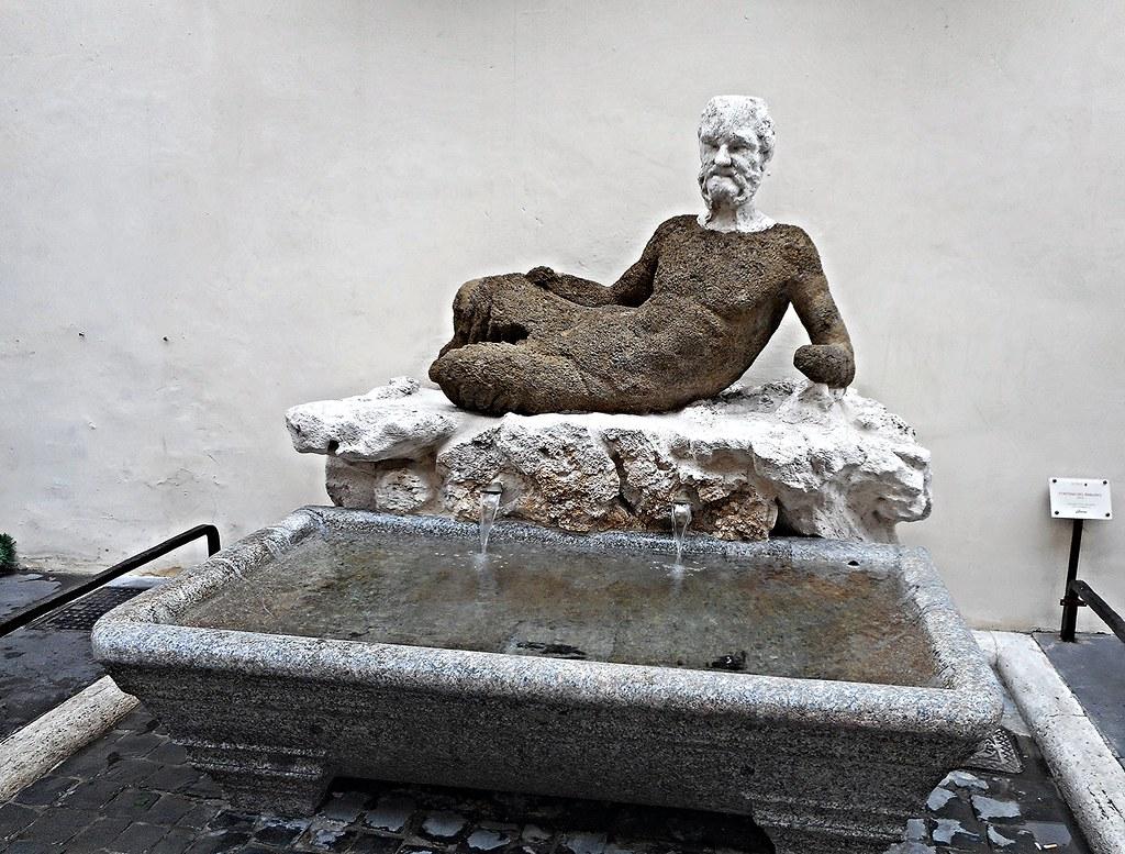 "Fountain called of ""Babbuino"" [baboon] (1738) at Via del Babbuino in Rome"