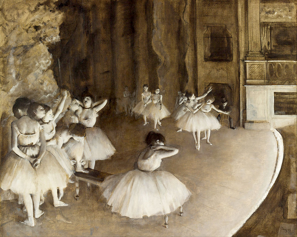 Rehearsal on Stage by Edgar Degas, 1874