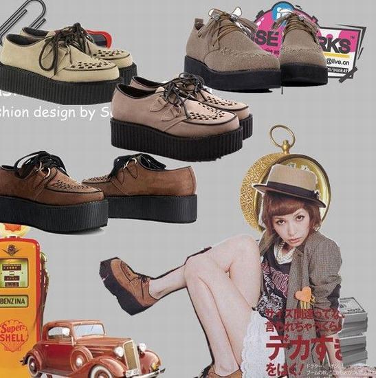 Platform shoe fad swept by VIVI models mix