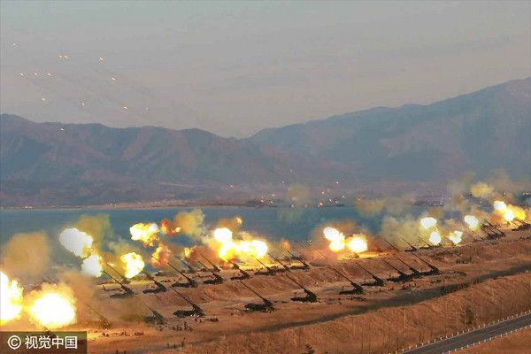 History of North Korea's largest artillery training: aimed at showing wiped the power of South Korea