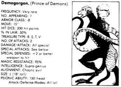 Demogorgon from ADnD 1st Monster Mannual