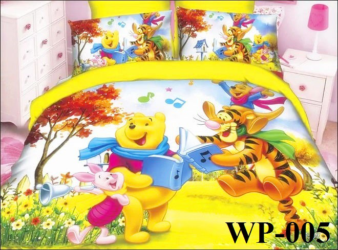Winnie The Pooh 5d 800tc Queen Amp King Size Fitted Bedsheet