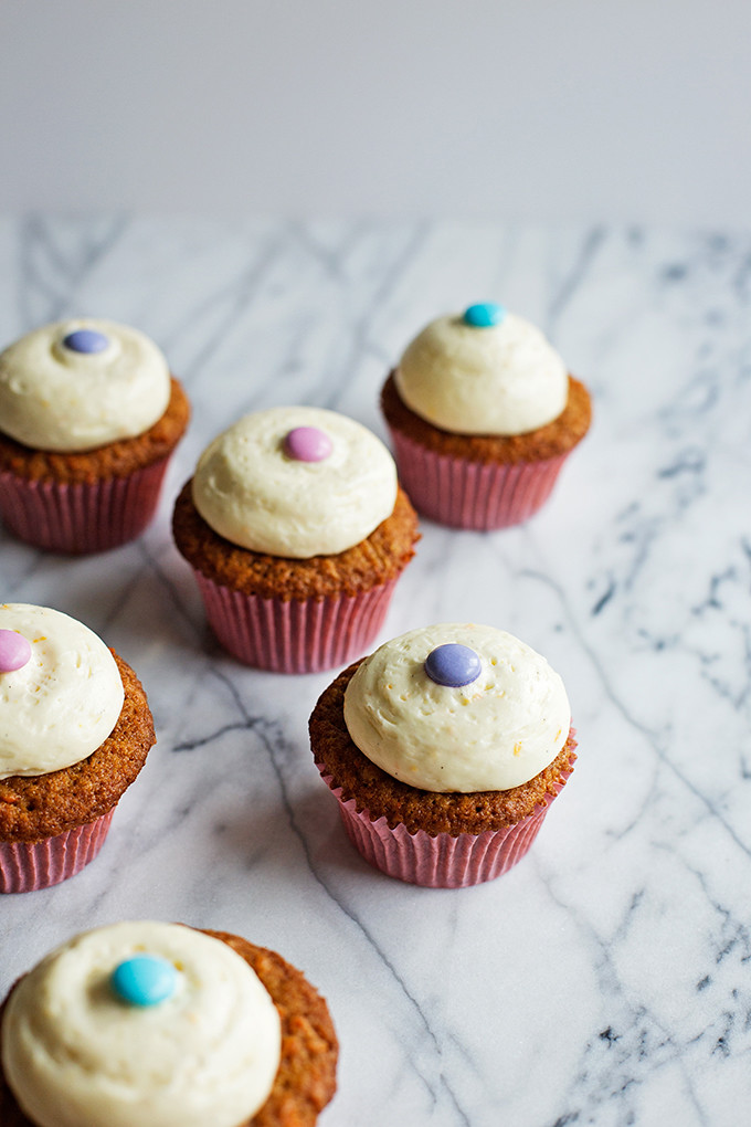 Carrot Cupcakes with Orange & Vanilla Bean Cream Cheese Frosting ...