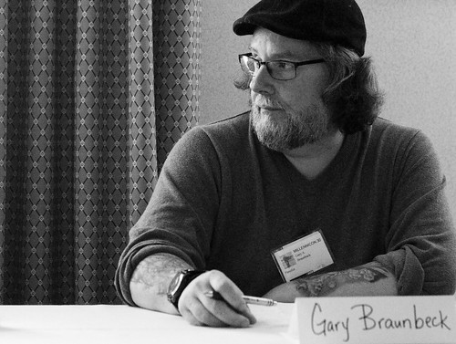 Author Gary Braunbeck looking authorly