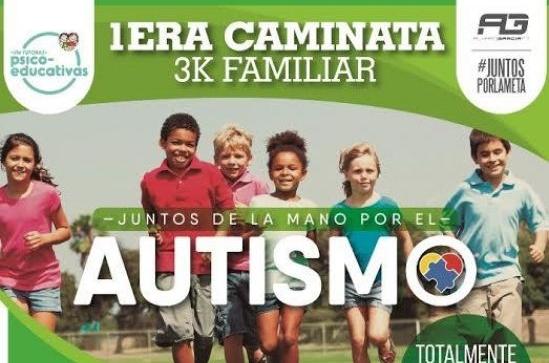"""Caminata 3K """"Juntos de la mano por el autismo"""" en La Llovizna"""