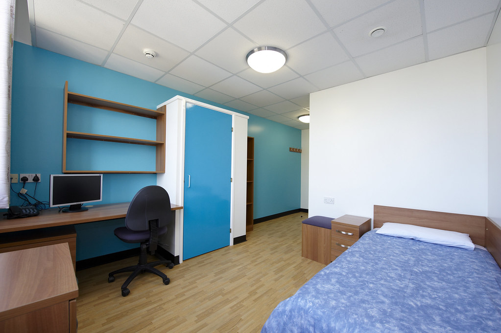 A bedroom in John Wood Building