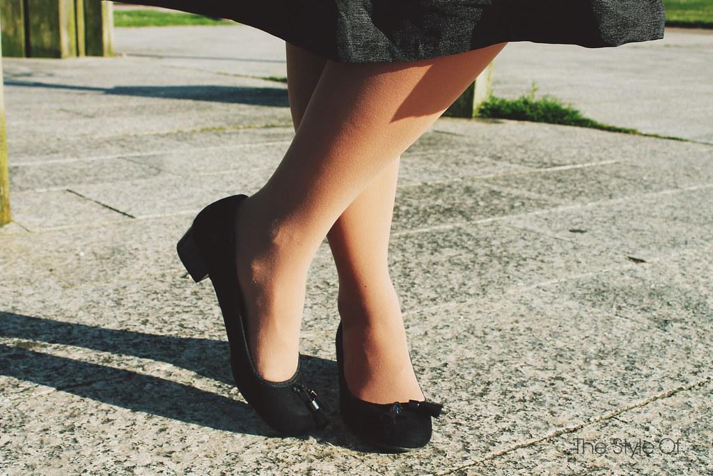 denim with midi skirt