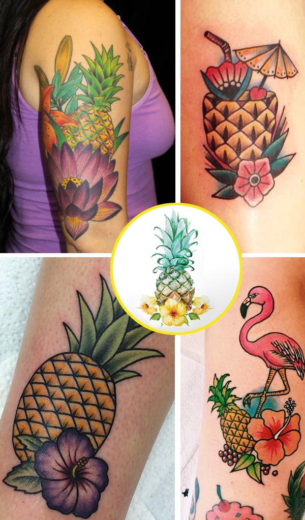 tattoo de abacaxi