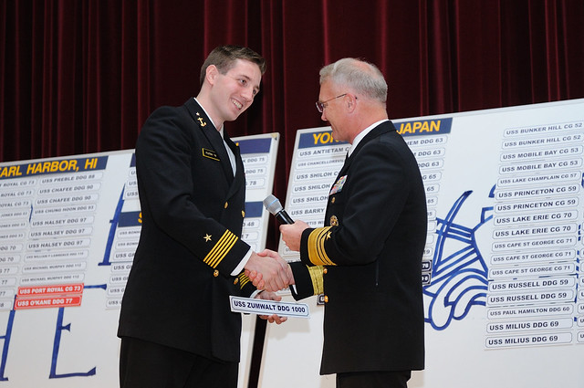 US Naval Academy's Future Surface Warfare Officers Choose First Ships