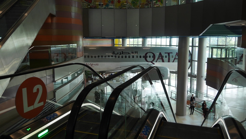 The Qatar Airways airport terminal greets you upon arrival at KidZania