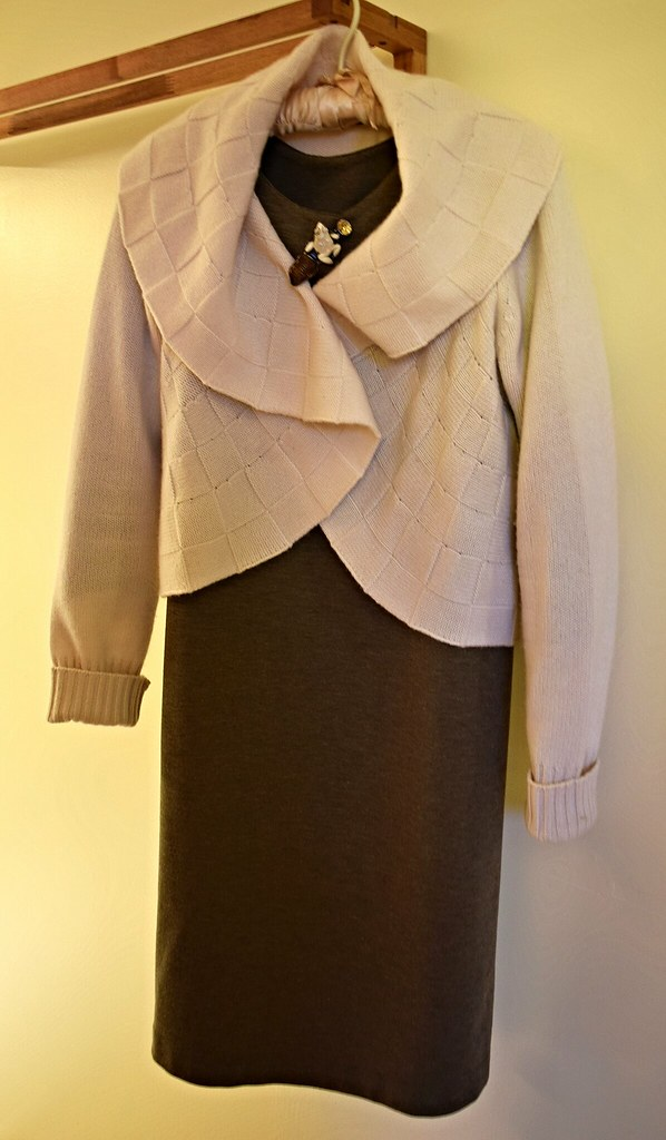 Cropped cashmere bolero over Ebb dress in ponte knit | Flickr