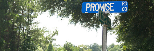 A street sign highlighting the budding South Carolina Low Country Promise Zone partnerships