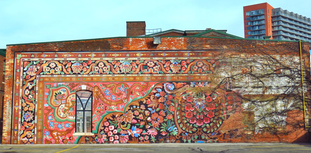 Carpet Mural Old Carpet Factory Liberty Village Toronto
