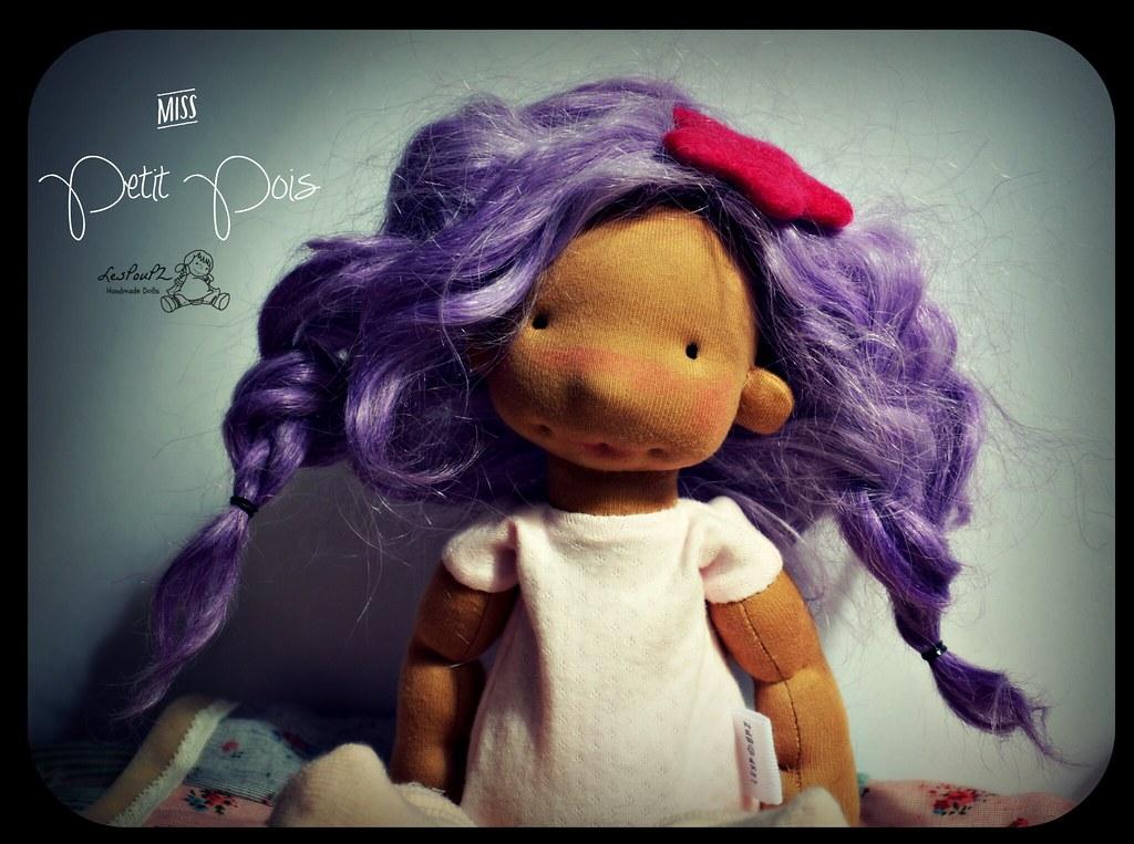 Lalie, 12.5 inches, natural fiber doll by LesPouPZ