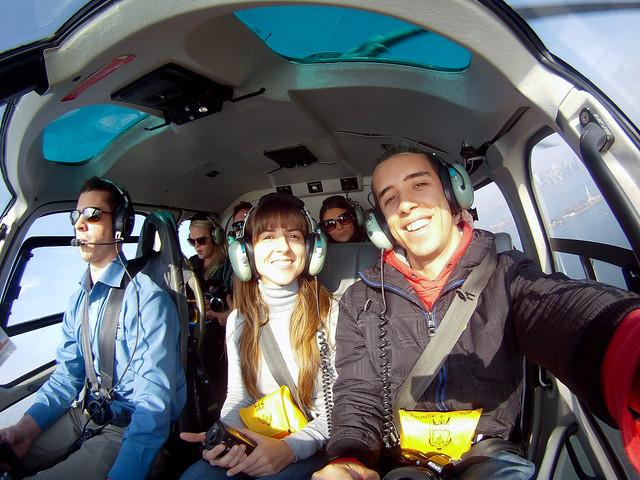 Volando en helicóptero por Nueva York