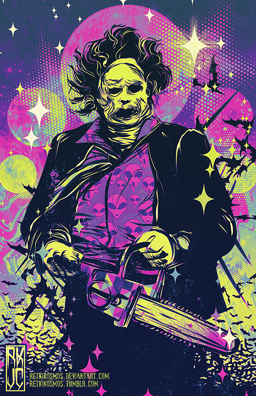 Neon Horror - Leatherface - Texas Chainsaw Massacre by RetkiKosmos