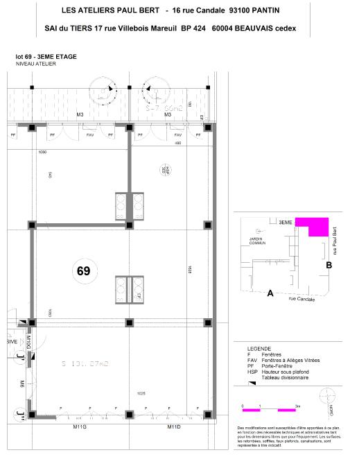 Les Ateliers Pault Bert - Plan de vente - Lot 69 (1/2)