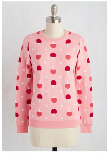 kling ping pong sweater