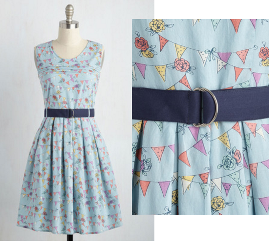 pennant dress modcloth