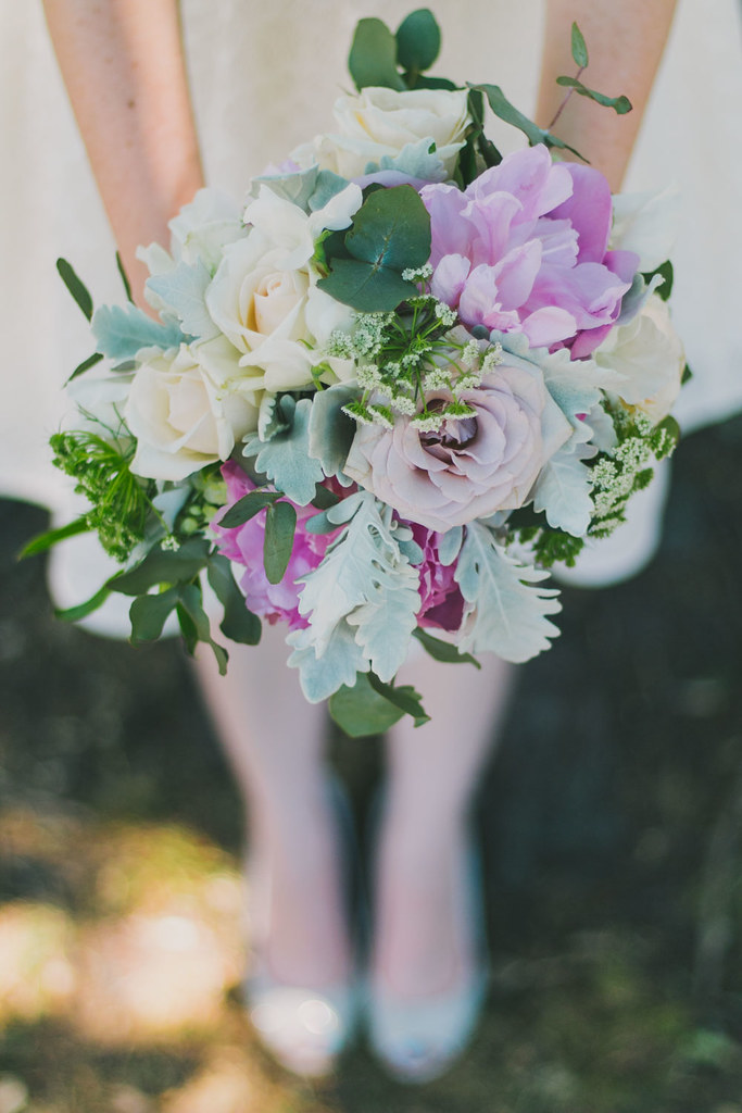 close up shot of wedding bouquet