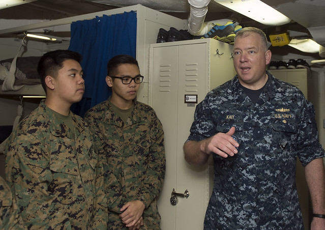 MCROTC Tours USS Germantown