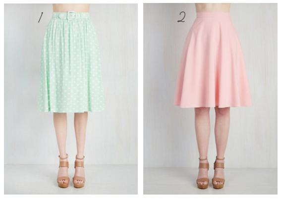 pastel modcloth skirt
