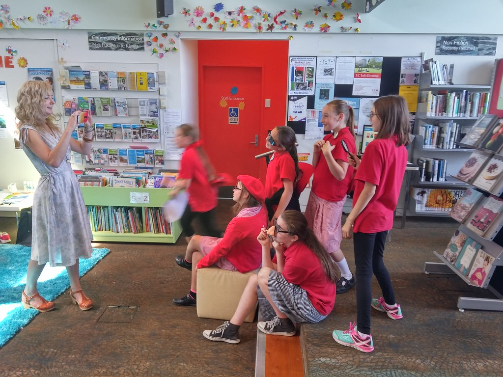 Posing for photos | Photos from School Librarian Day at ...