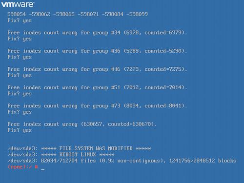 vCenter Server 6 Appliance fsck failed » boche net – VMware