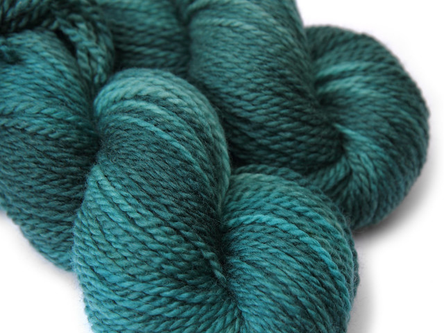 Awesome Aran – finest superwash BFL  hand dyed yarn 'Heart of Glass' 97g skein