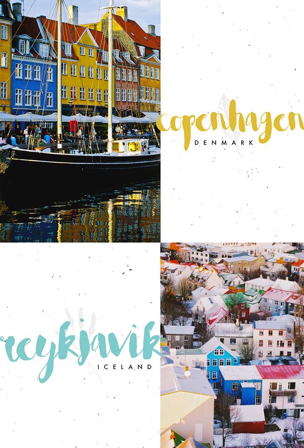 Copenhagen Denmark Iceland Reykjavik Travel Bucket List