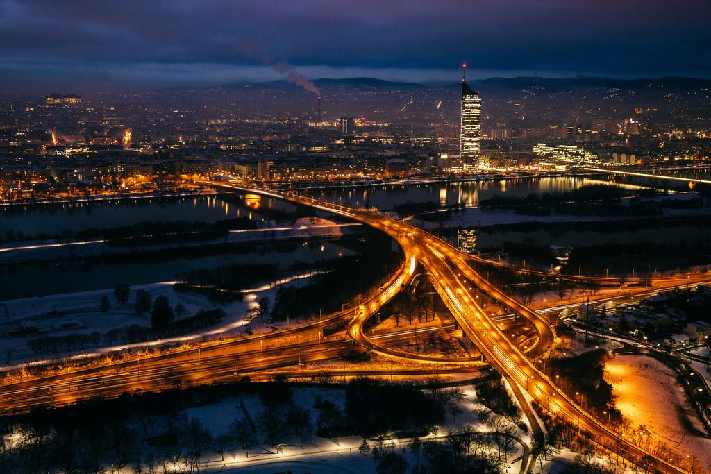 Wien at night.