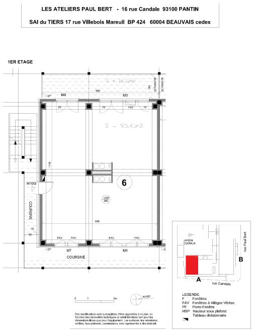 Les Ateliers Pault Bert - Plan de vente - Lot 6