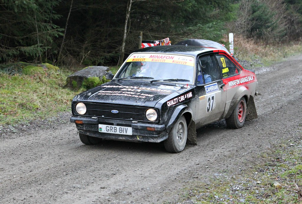 Cambrian Rally 2016 Car 37 Ford Escort Cambrian